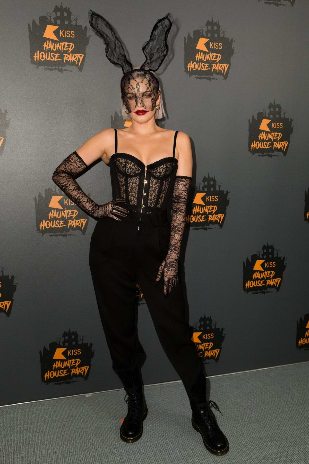 Anne-Marie Rose Nicholson attends the KISS Haunted House Party 2018 in London, UK