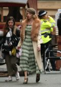 Anya Taylor-joy on set of 'Peaky Blinders' in Manchester, UK