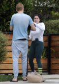 Ariel Winter and boyfriend Levi Meaden are spotted playing with their new puppy in Los Angeles