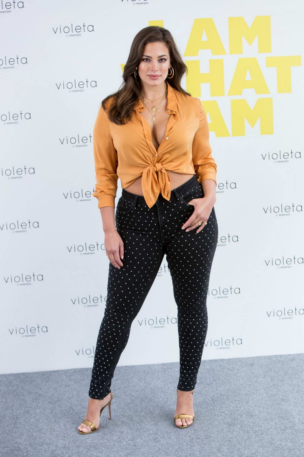 Ashley Graham presents 'Violeta by Mango' campaign in Madrid, Spain