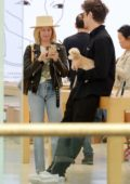 Ashley Tisdale enjoys a day of shopping with husband Christopher French and her dog Maui in Los Angeles