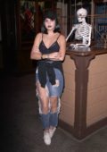 Bailee Madison visits Knotts Scary Farm in Buena Park, California