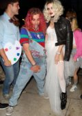 Bella Thorne and Mod Sun arrives to a Halloween party dressed as Tiffany and Chucky in Los Angeles