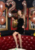Bella Thorne celebrates her 21st birthday at Sugar Factory American Brasserie in Las Vegas, Nevada