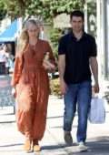 Beth Behrs and Max Greenfield out for lunch at Joan's On Third in Studio City, Los Angeles