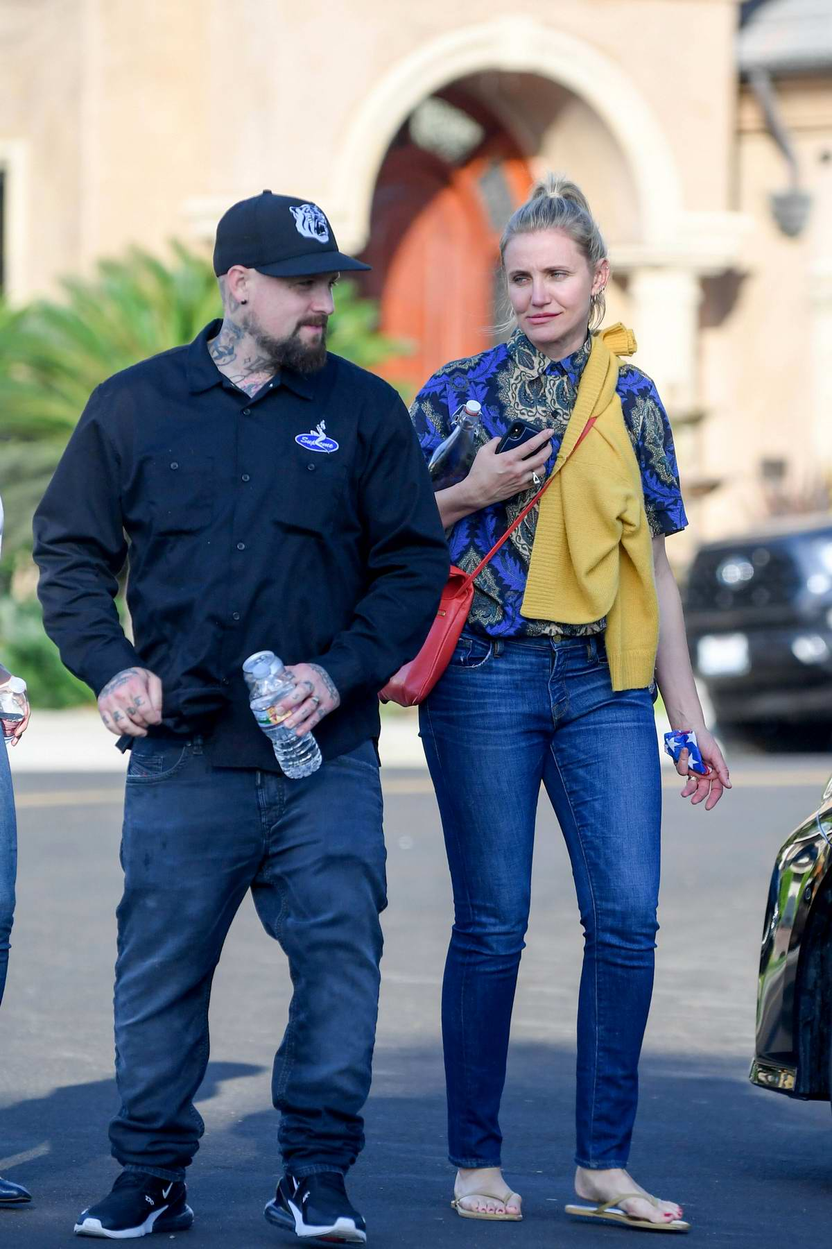 Cameron Diaz and Benji Madden leaves a party at a friend's house in Los Angeles