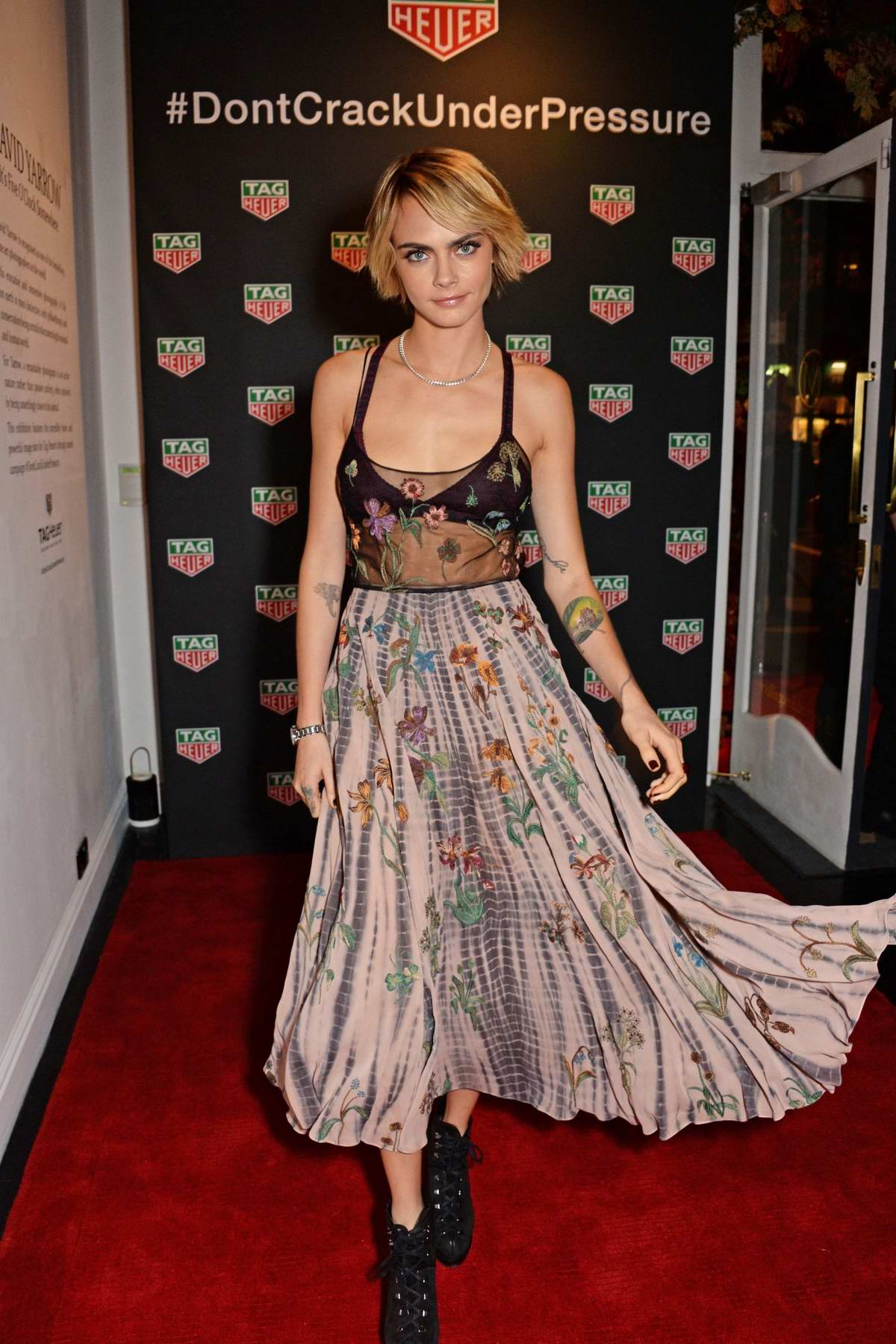 Cara Delevingne at the TAG Heuer X Cara Delevingne event at the Maddox Gallery in London, UK