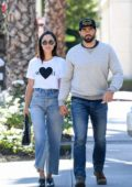 Cara Santana and Jesse Metcalfe seen while leaving after breakfast at Le Pain Quotidien in Los Angeles