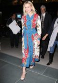Carey Mulligan wearing a Gucci dress while out promoting her new movie 'Wildlife' in New York City