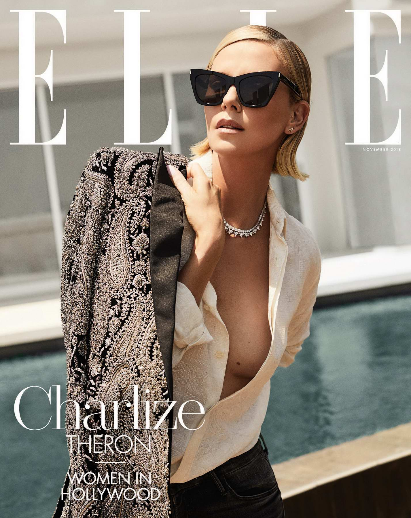Charlize Theron features in ELLE Magazine - November 2018