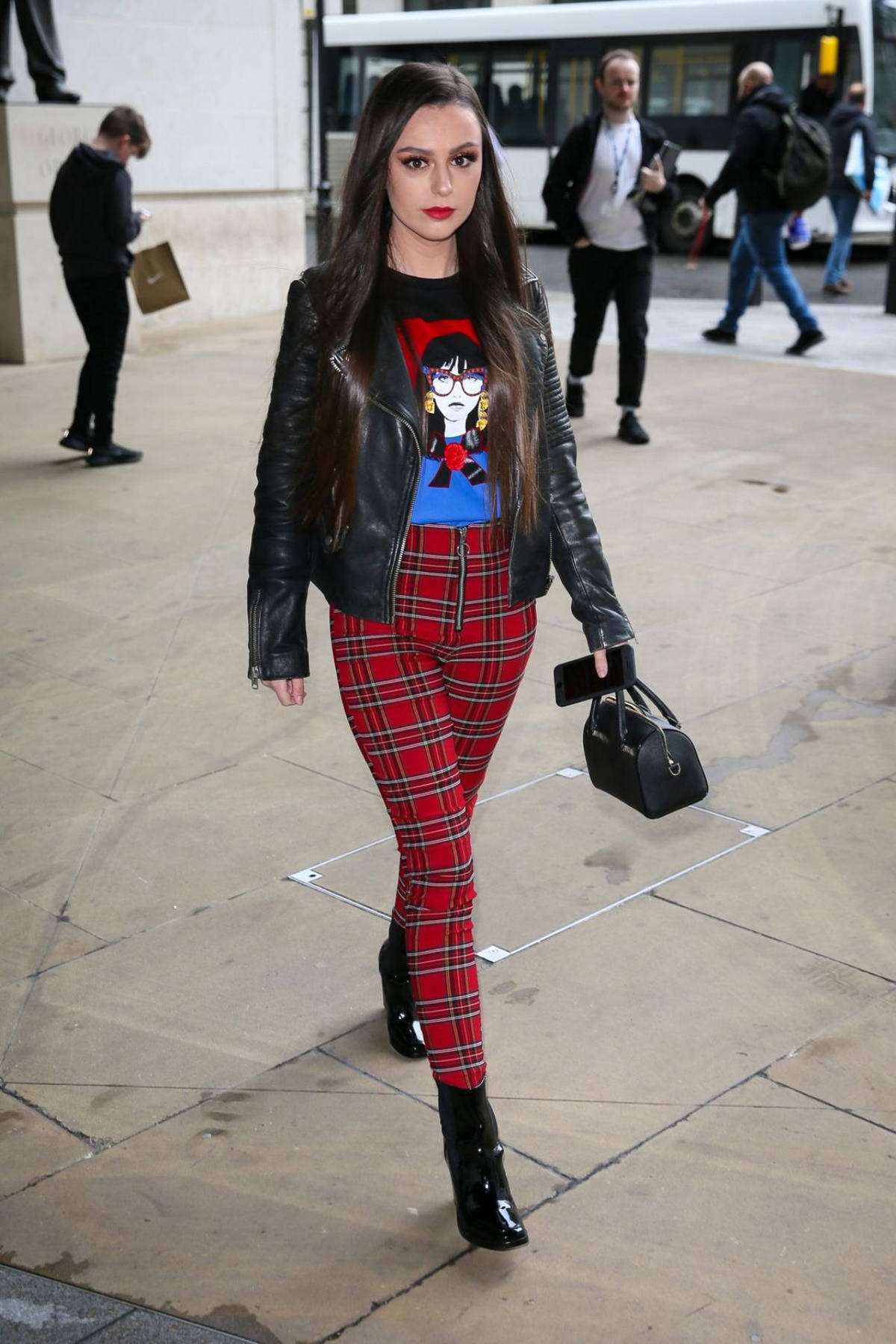 Cher Lloyd promotes her new single at BBC Radio in London, UK