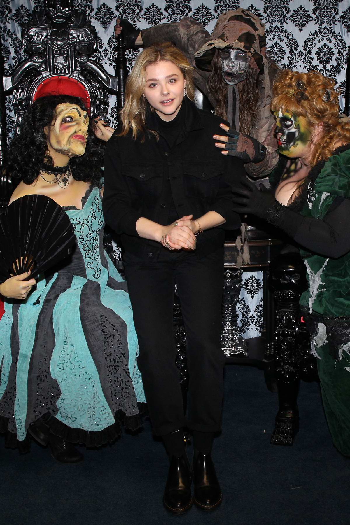 Chloe Grace Moretz visits Knott's Scary Farm in Buena Park, California