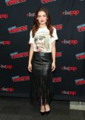 Danielle Campbell promotes 'Tell Me A Story' during New York Comic Con 2018 (NYCC 2018) in New York City