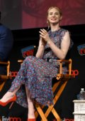 Deborah Ann Woll attends Marvel's Daredevil Season 3 Panel during New York Comic Con 2018 (NYCC 2018) in New York City