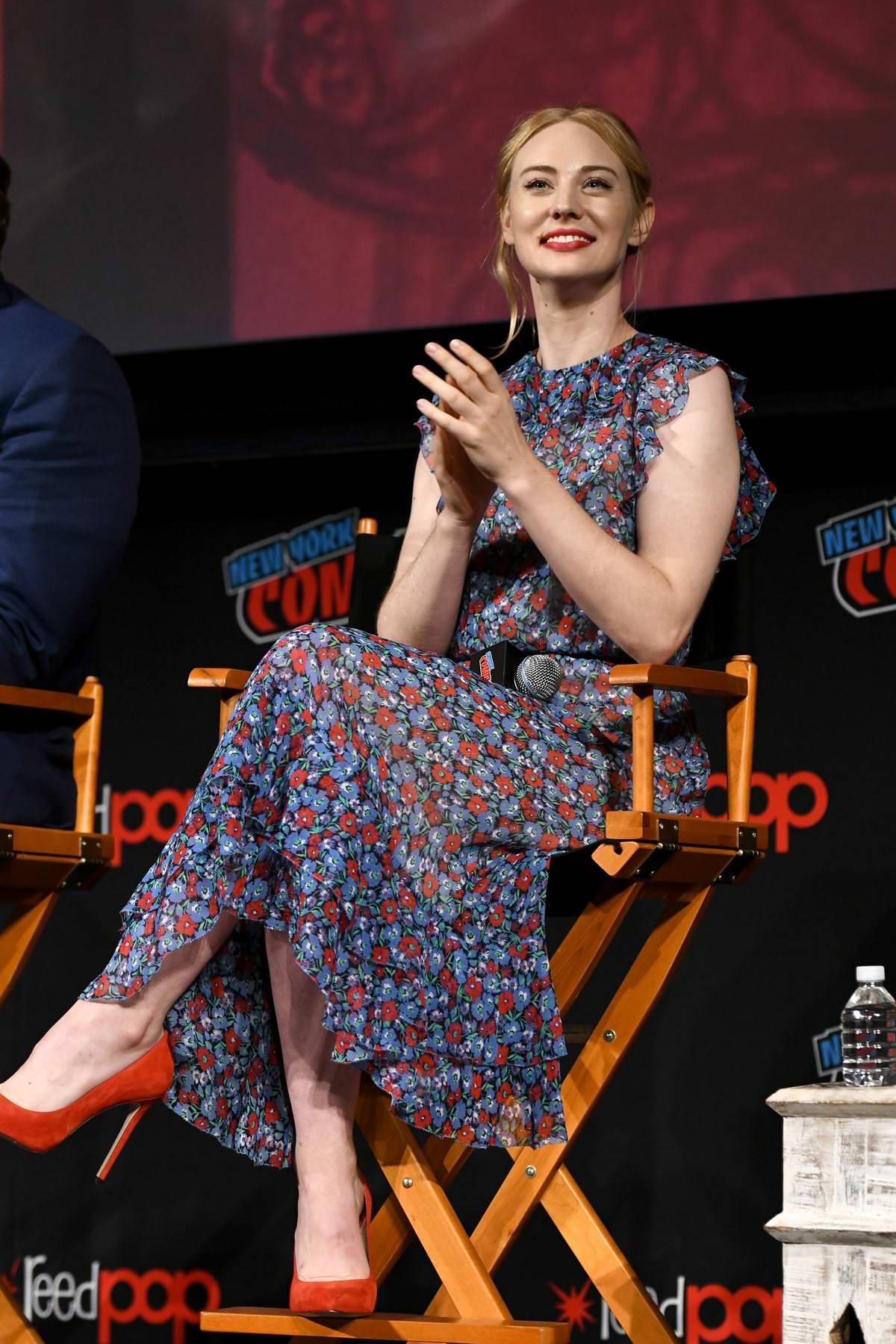 Deborah Ann Woll attends Marvel's Daredevil Season 3 Panel during New York Comic Con 2018 (NYCC 2018) in New York City