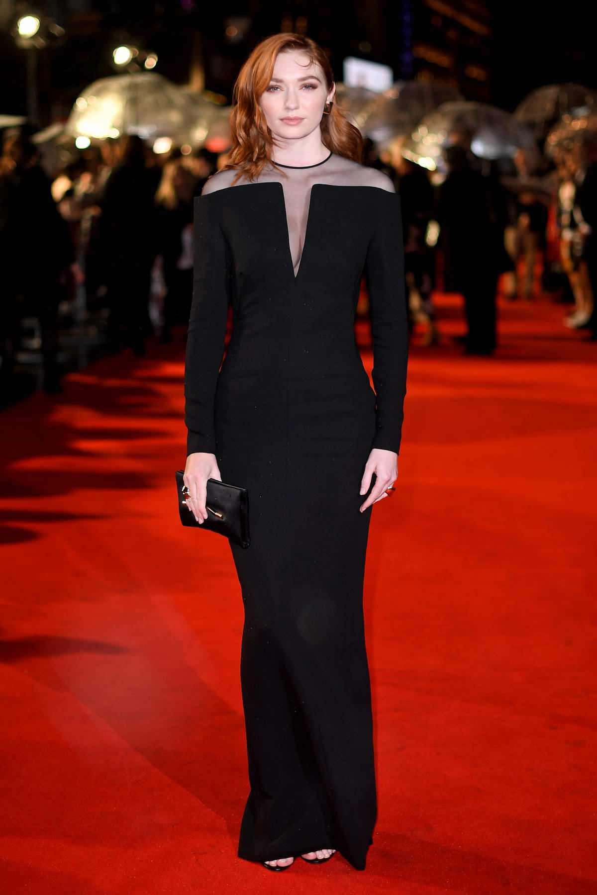 Eleanor Tomlinson attends 'Colette' premiere and BFI Patrons gala during the 62nd BFI London Film Festival in London, UK