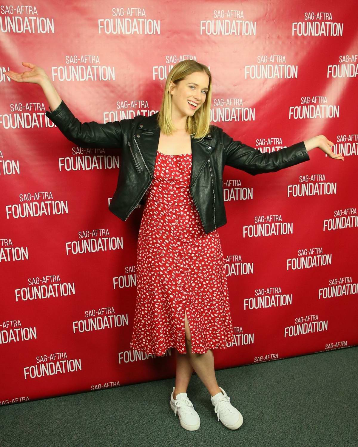 Elizabeth Lail attends the SAG-AFTRA Foundation Conversations - Screening of 'You' in Los Angeles