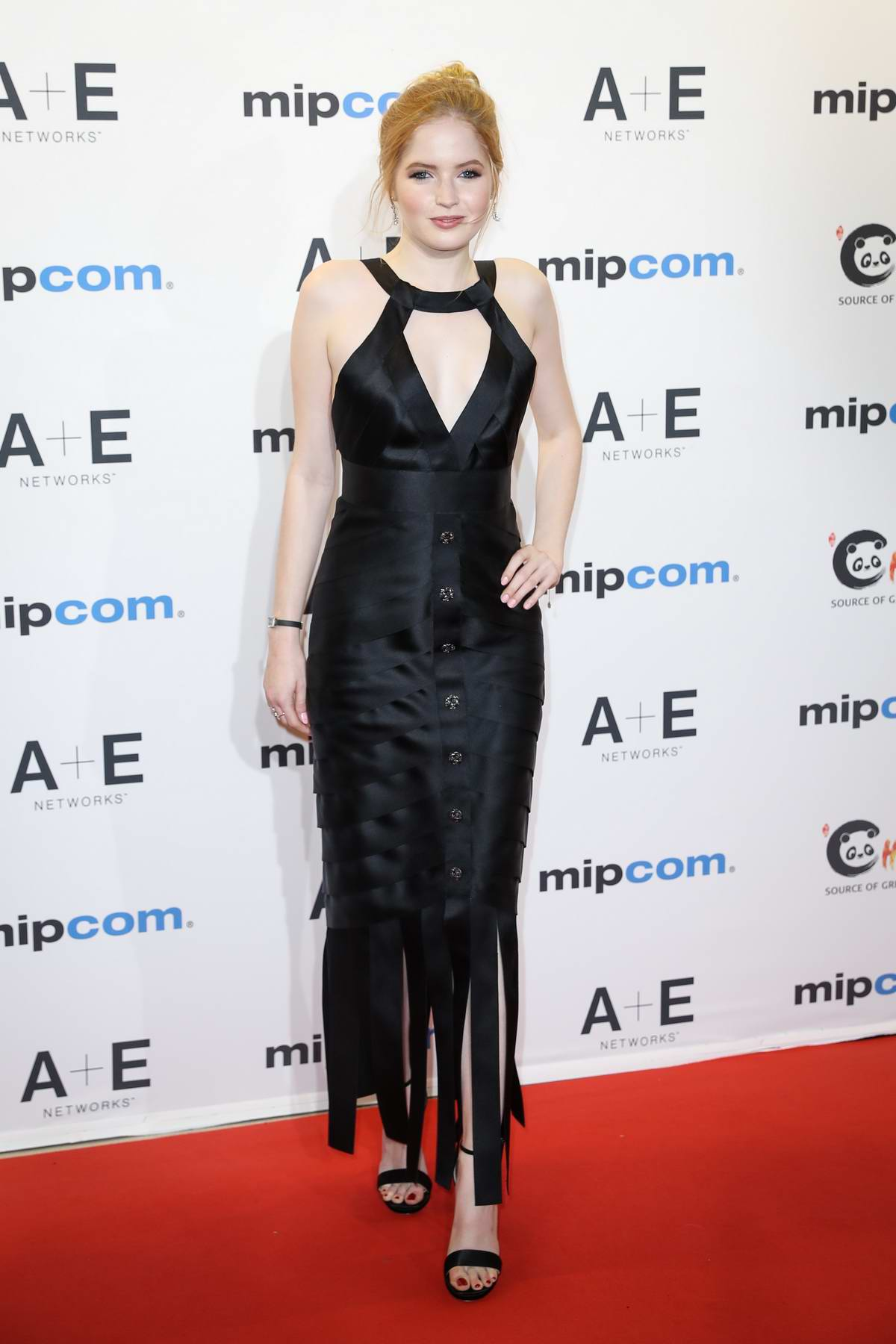 Ellie Bamber attends the red carpet at MIPCOM 2018 Opening in Cannes, France