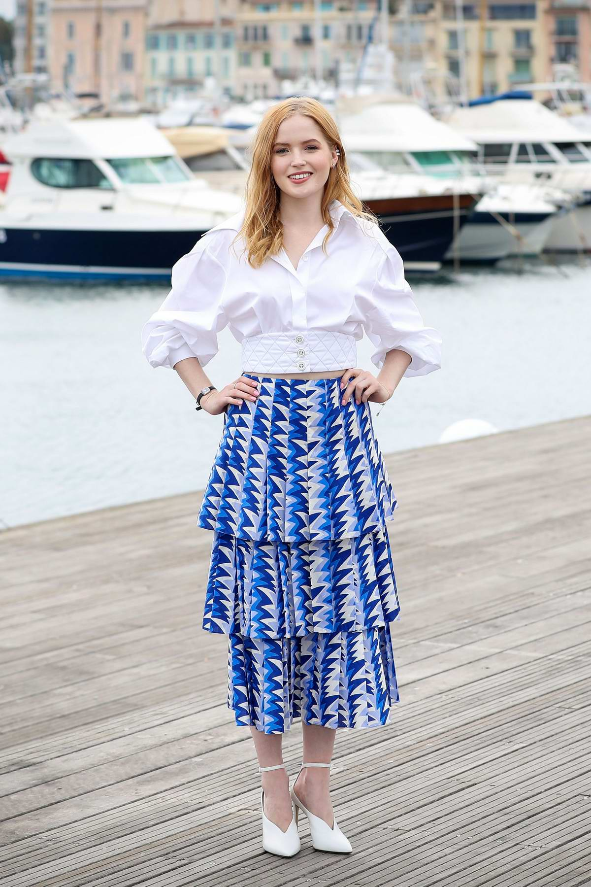 Ellie Bamber attends the photocall for 'Les Miserables' during MIPCOM 2018 in Cannes, France