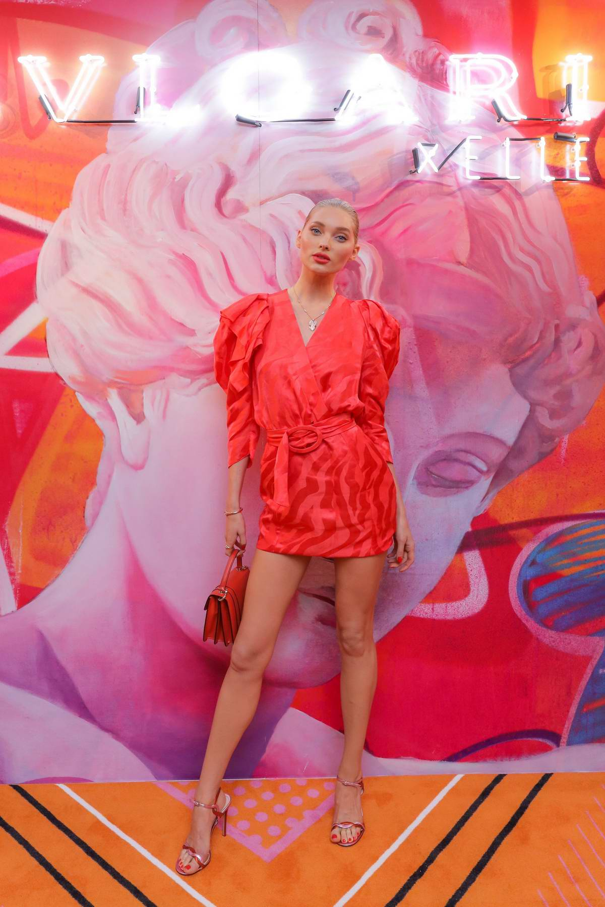 Elsa Hosk attends Bvlgari X Elle 'Wild Pop' High Jewelry Collection in New York City