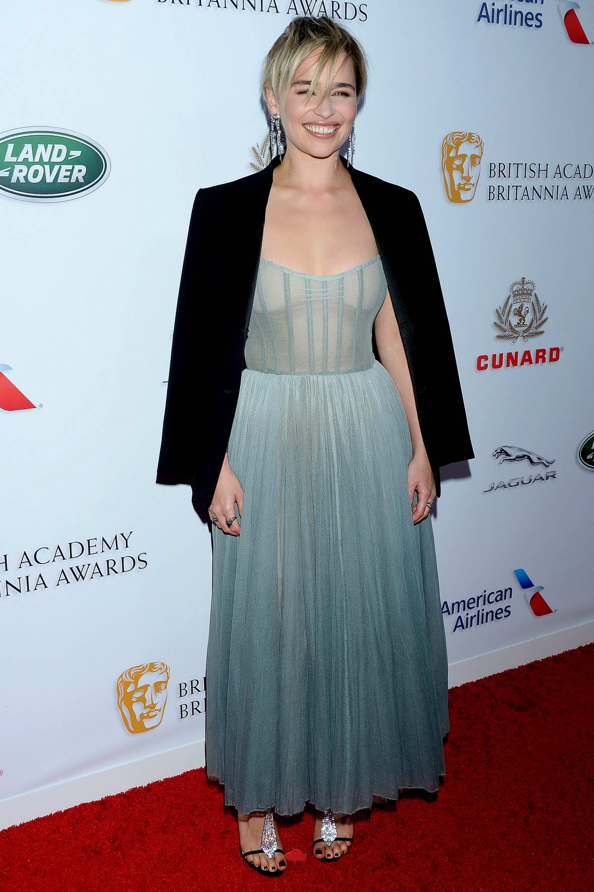 Emilia Clarke attends the British Academy Britannia Awards 2018 at The Beverly Hilton Hotel in Los Angeles