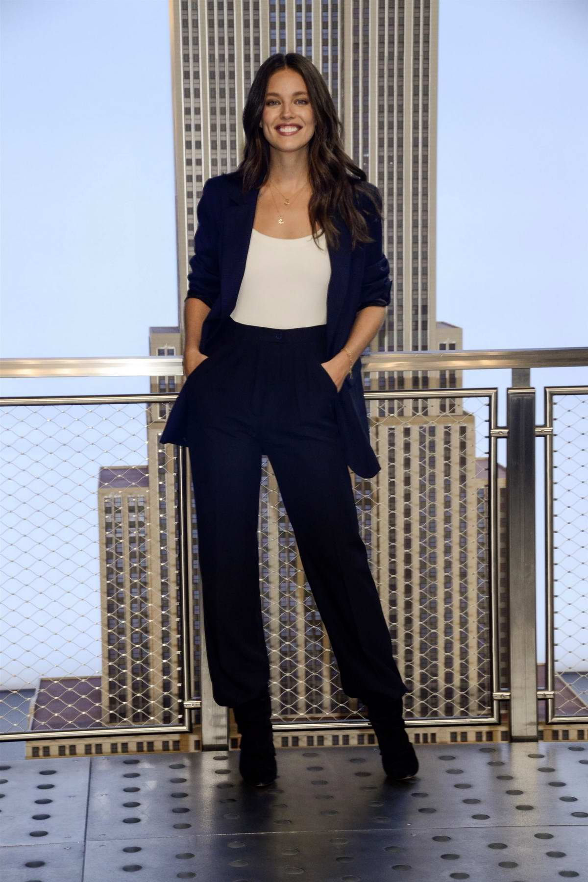 Emily DiDonato attends the lighting of the Empire State Building in New York City