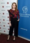Emma Stone attends the 'Great Minds Think Unalike' event in New York City