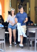 Emma Watson and Branden Wallace spotted as they enjoy a meal at a restaurant during a romantic vacation in Mexico