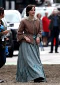 Emma Watson spotted while filming her upcoming drama 'Little Women' in Boston, Massachusetts