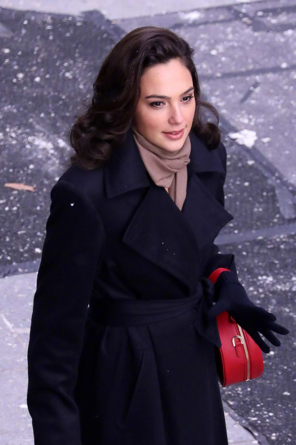Gal Gadot seen on the set of Wonder Woman 1984 in Central London, UK