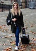 Gemma Atkinson is all smiles as she Leaves The Hits Radio Station in Manchester, UK