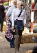 Gwen Stefani takes her kids for an afternoon of fun at the pumpkin patch in Los Angeles