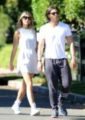 Gwyneth Paltrow and husband Brad Falchuk enjoys a romantic stroll in Santa Monica, California