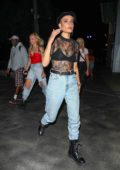 Halsey arrives for Drake and Migos concert at the Staples Center in Los Angeles