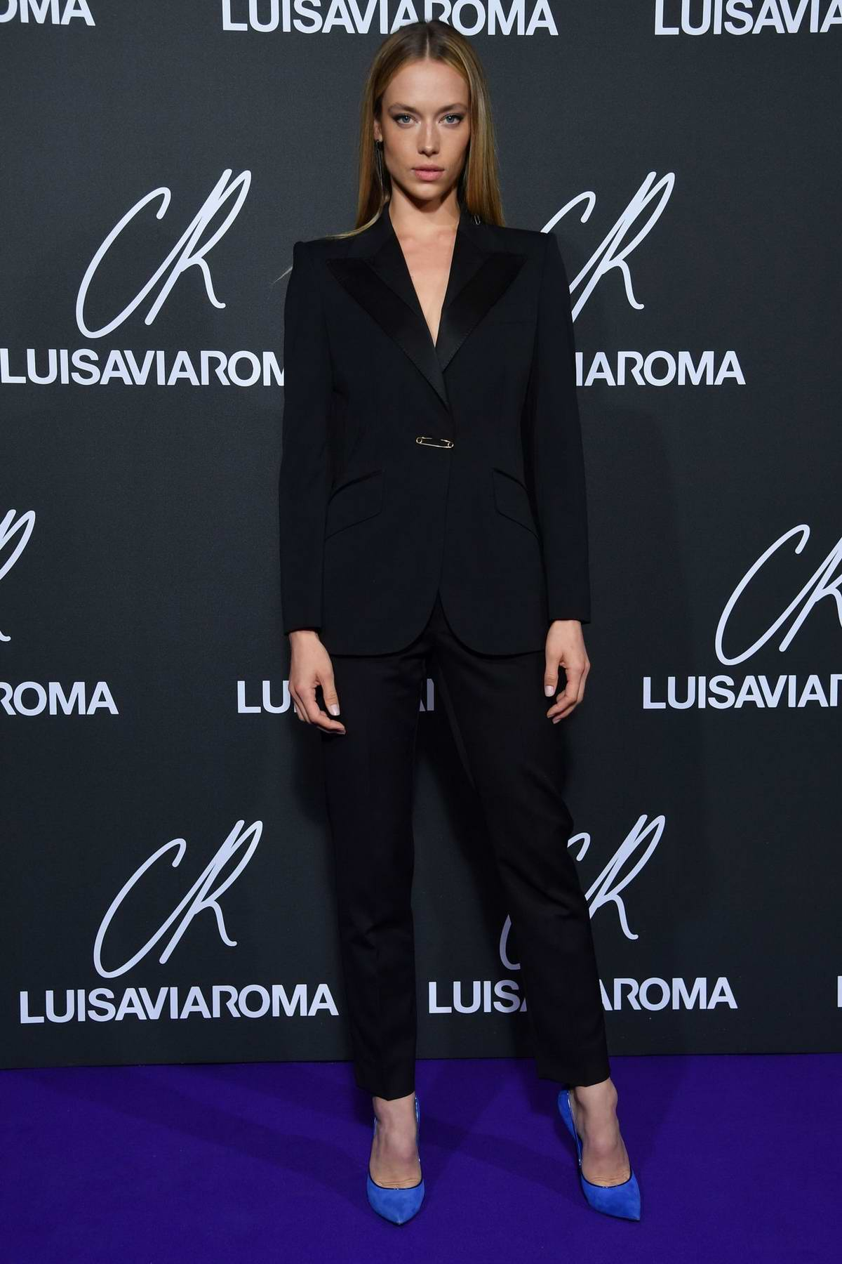 Hannah Ferguson attends the CR Fashion Book x Luisasaviaroma photocall during Paris Fashion Week in Paris, France