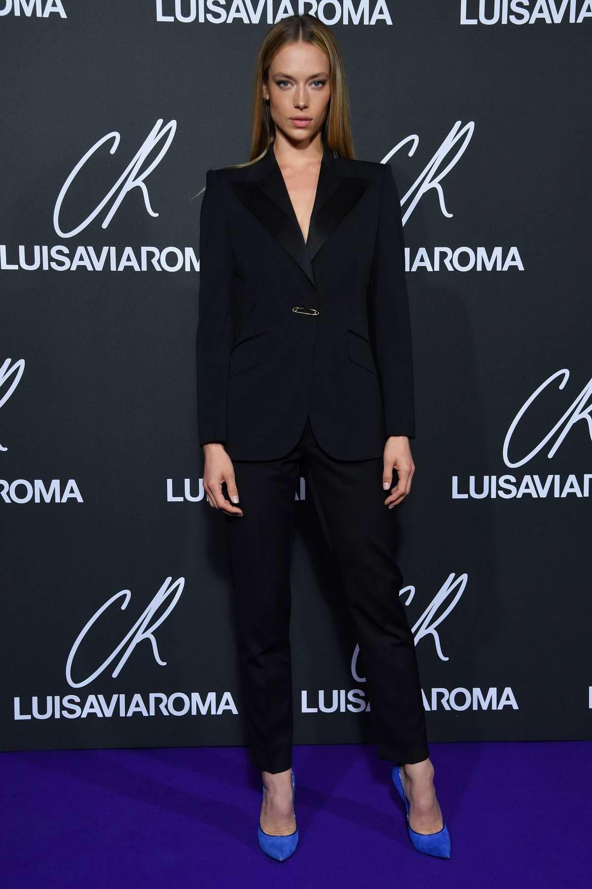 Hannah Ferguson attends the CR Fashion Book x Luisasaviaroma photocall during Paris Fashion Week in Paris, France