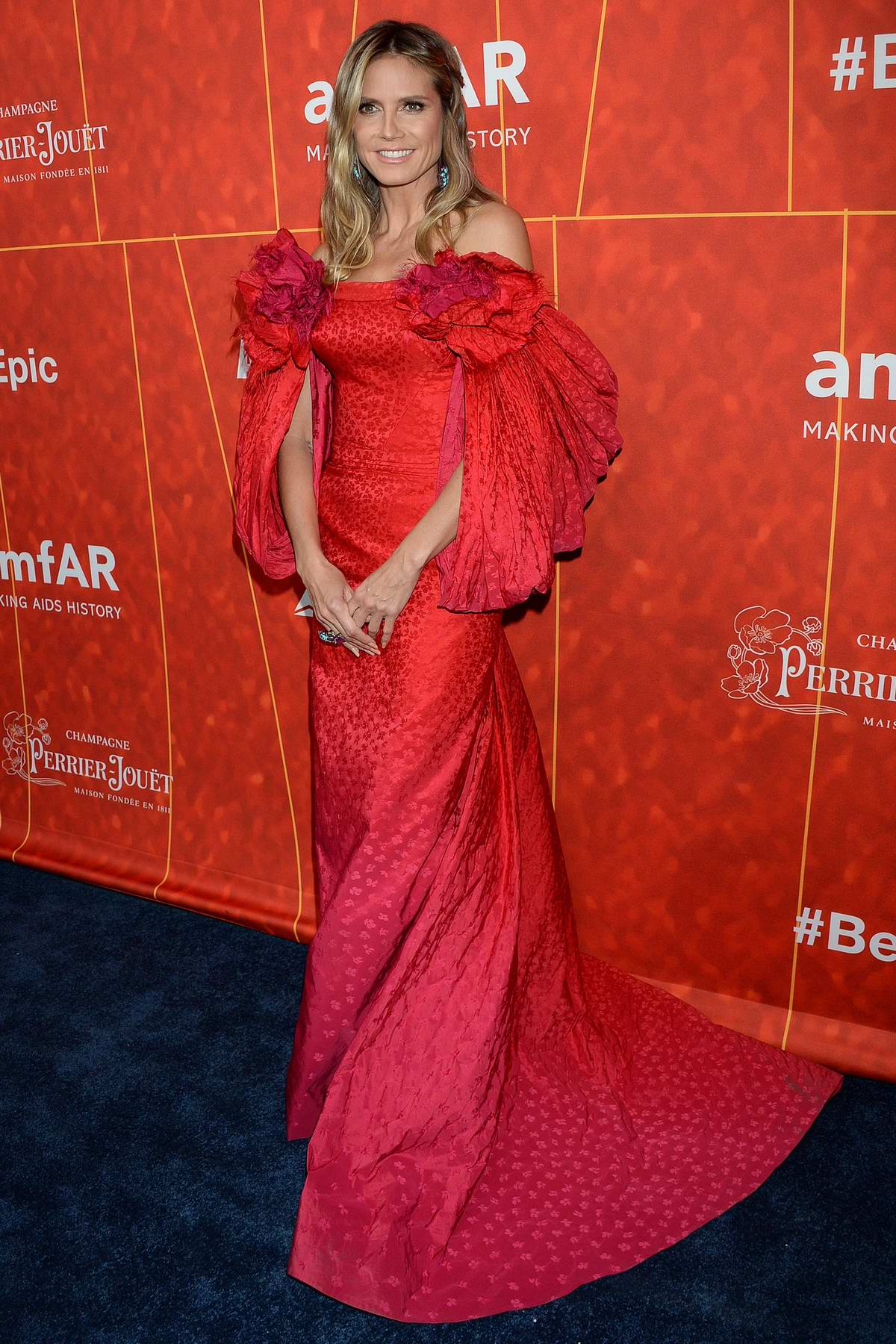 Heidi Klum attends 2018 amfAR Inspiration Gala at Wallis Annenberg Center for the Performing Arts in Beverly Hills, Los Angeles