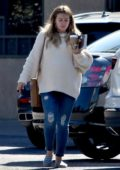 Hilary Duff looks a bit tired as she steps out to visit boyfriend Matthew Koma at his office in Studio City, Los Angeles