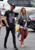 Hilary Duff out for some shopping with Matthew Koma and a friend in Los Angeles