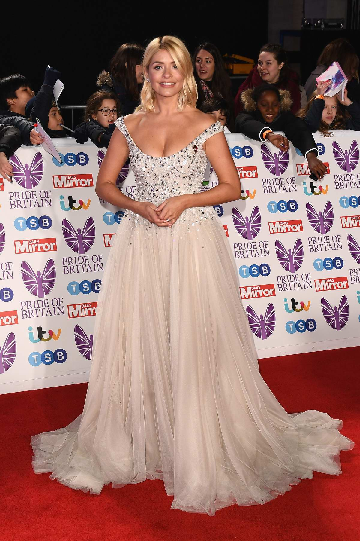 Holly Willoughby attends the Pride of Britain Awards 2018 at the Grosvenor Hotel in London, UK