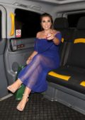Imogen Thomas leaves the 'Float Like A Butterfly Ball 2018' in London, UK