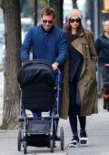 Irina Shayk and Bradley Cooper steps out for a stroll with their daughter in New York City