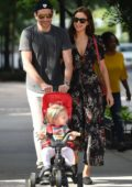 Irina Shayk and Bradley Cooper steps out for a stroll with their daughter in SoHo, New York City