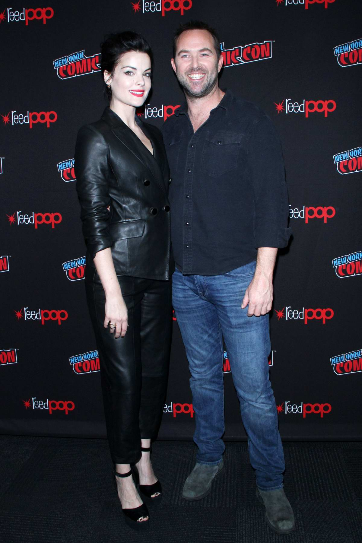 Jaimie Alexander attends the 'Blindspot' photocall during New York Comic Con 2018 (NYCC 2018) in New York City