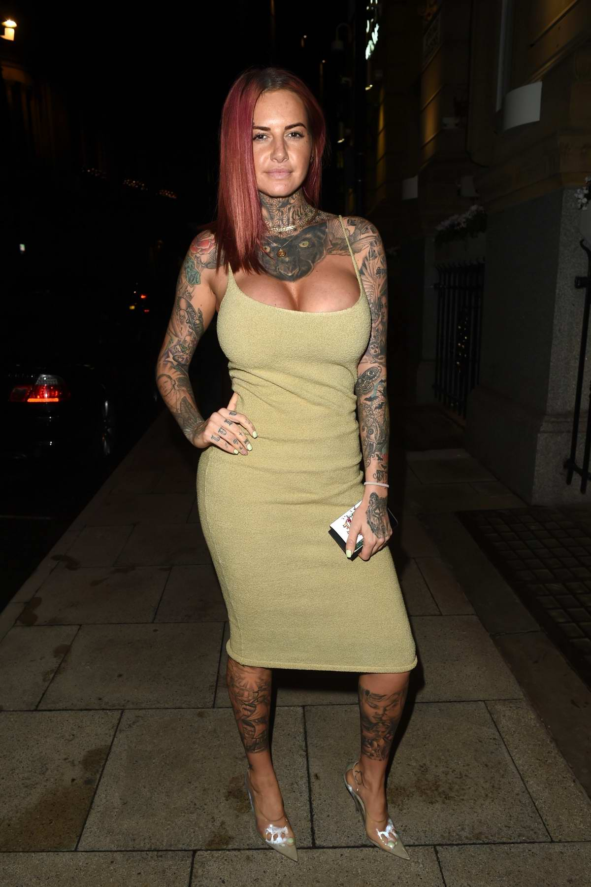 Jemma Lucy enjoys a girl's night out at Rosso restaurant in Manchester, UK