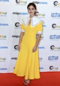Jenna Coleman attends the red carpet at MIPCOM 2018 opening in Cannes, France