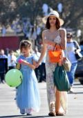 Jenna Dewan seen leaving a kids Halloween Party with her daughter in Studio City, Los Angeles