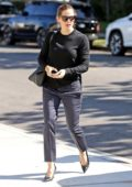 Jennifer Garner and Ben Affleck attending church with their family in Brentwood, Los Angeles