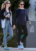 Jennifer Garner is all smiles while out for a morning walk with a friend in Santa Monica, California