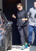 Jennifer Garner steps out in warm black jacket and leggings as she runs errands in Los Angeles